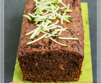 Plum-cake dolce di Zucchine, con Mele e Cioccolato - Zucchini Cake with Apple and Chocolate