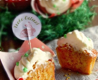 Eastern Carrot Cupcakes / Osterliche Karotten-Cupcakes