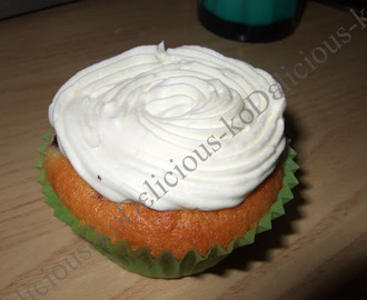 Blueberry Cupcake mit leichtem Topping