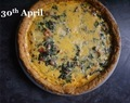 Wild Garlic and Pancetta Tart