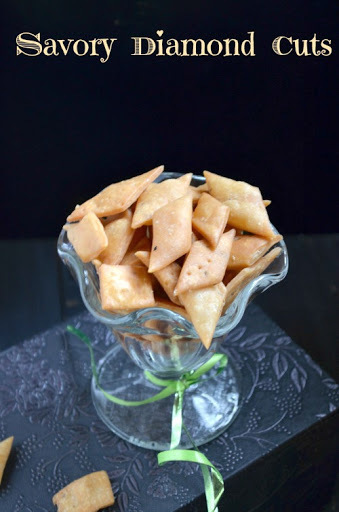 Savory Diamond Cuts/Biscuits ~ Easy Diwali Snack