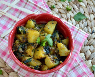 Aloo Methi/Poatoes with Fenugreek leaves(Dry version)