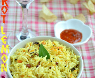 Carrot Lemon Rice-Easy Lunch box Recipe