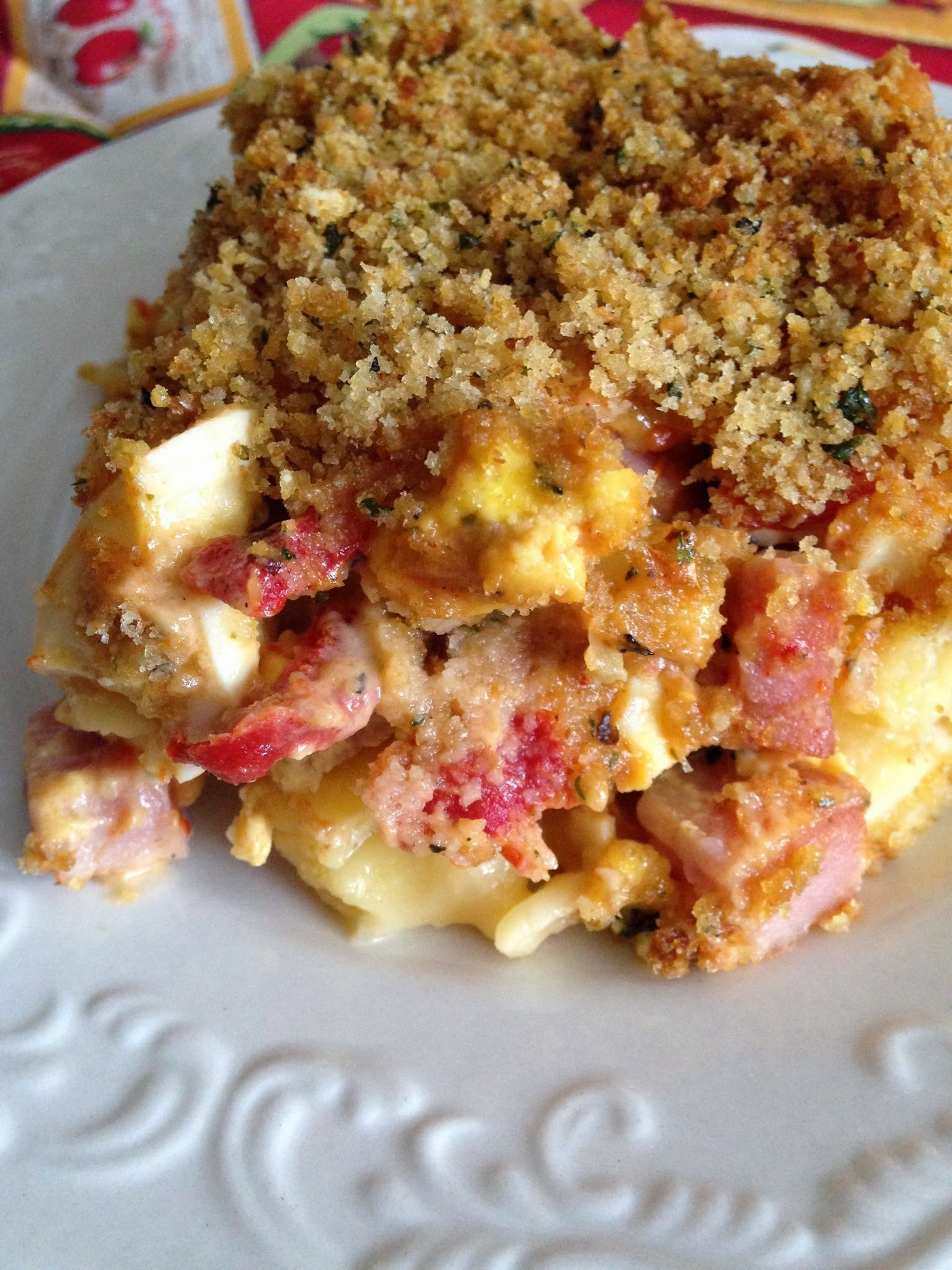 Overnight Ham, Cheese and Egg Lasagna