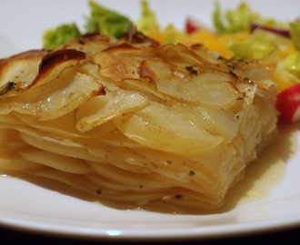 Layered potato and onion bake