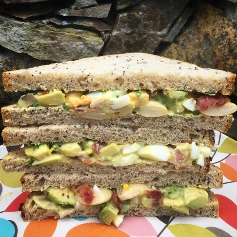 Avocado, Egg, Bacon & Butter Bean in Garlic Mayo #BritishSandwichWeek