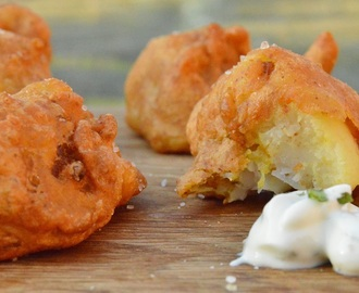 Simple spiced cauliflower fritters