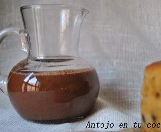 Salsa caliente de chocolate