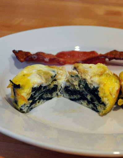 Mini Frittatas with Feta, Swiss Chard, Mushrooms and Shallots