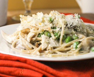 Healthy Chicken Tetrazzini #SundaySupper