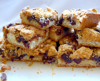 Mincemeat and Apple Streusel Slice