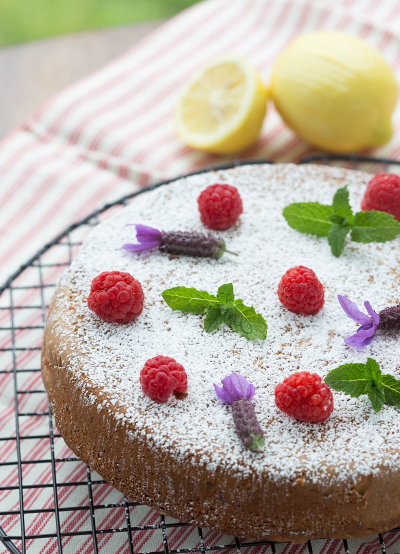 Citrus Raspberry Olive Oil Cake