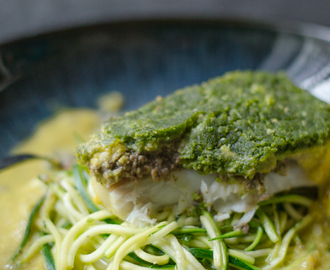 Poached Cod Recipe with Mushroom Duxelles and a soft herb crust