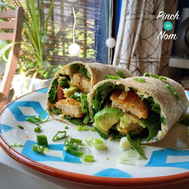 Quorn Chicken Burger Wrap | Slimming World