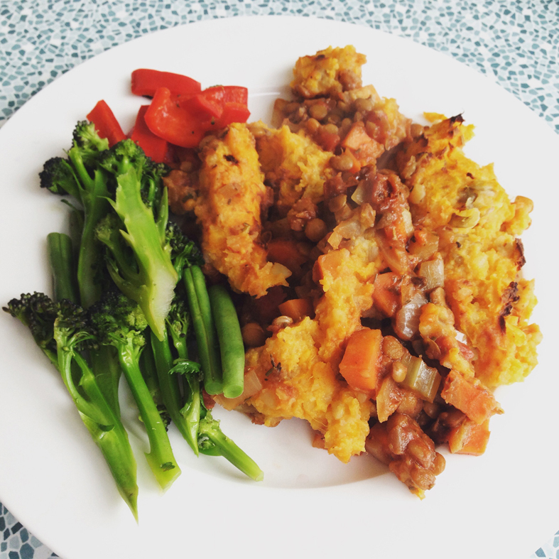 Vegan Sweet Potato Shepherd's Pie