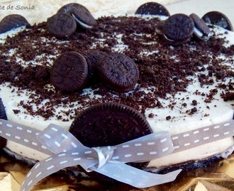 Tarta oreo y chocolate blanco