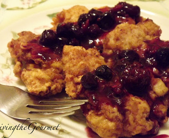 Boneless Fried Chicken Thighs with Blueberry Sauce!!!
