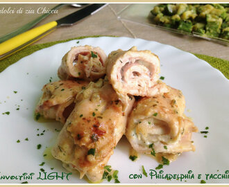 Involtini di tacchino light con Philadelphia