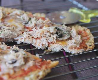 Pizza base de coliflor