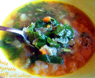 Brza povrtna juha s korabicom :: Quick vegetable soup with kohlrabi
