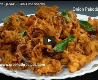 Onion Pakoda Recipe Video