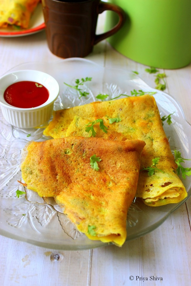 Moong Dal Cheela – Lentil Crepes