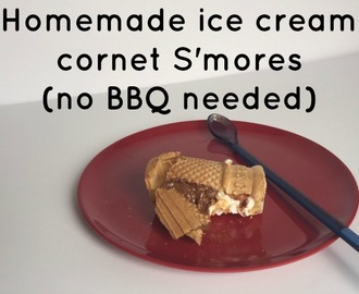 Homemade ice cream cornet S'mores (no BBQ needed)….