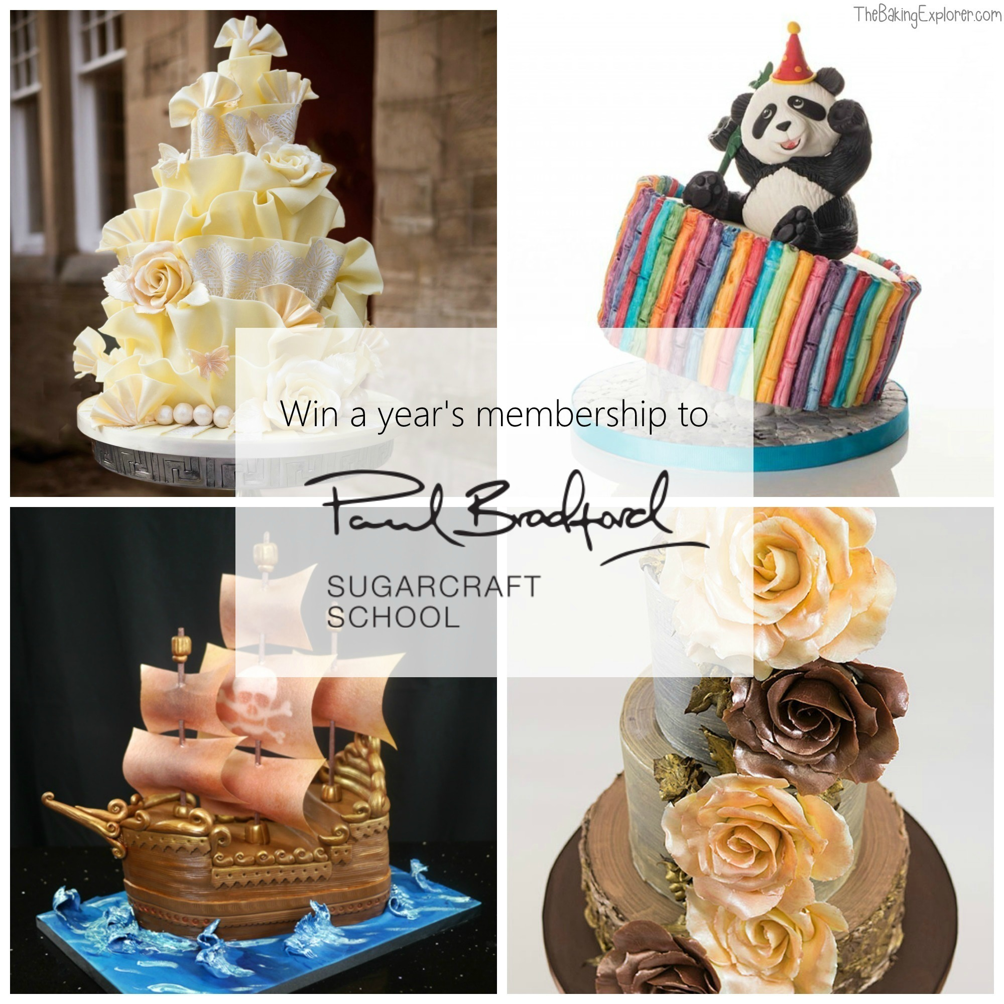 Win A Year's Premium Membership to Paul Bradford Sugarcraft School!