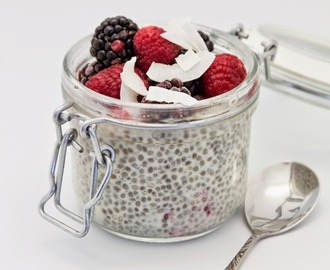 Coconut Cardamom Berry Chia Pudding