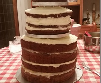 Baking a wedding cake
