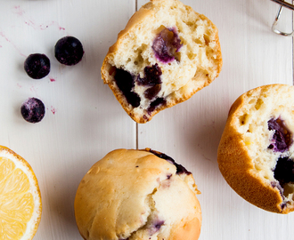 Low Fat Lemon Blueberry Muffins (Vegan)
