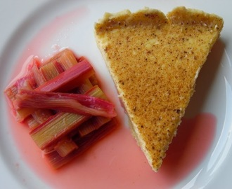 Custard Tart (with poached rhubarb)