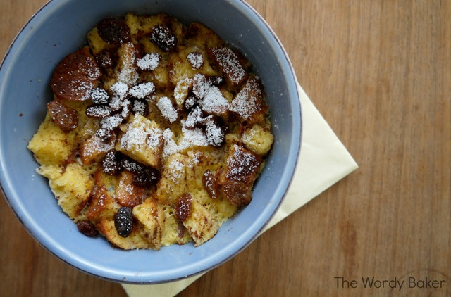 French Toast in a Bowl {Microwave Bread Pudding}