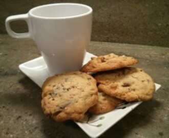 Cookies de chocolate y almendra