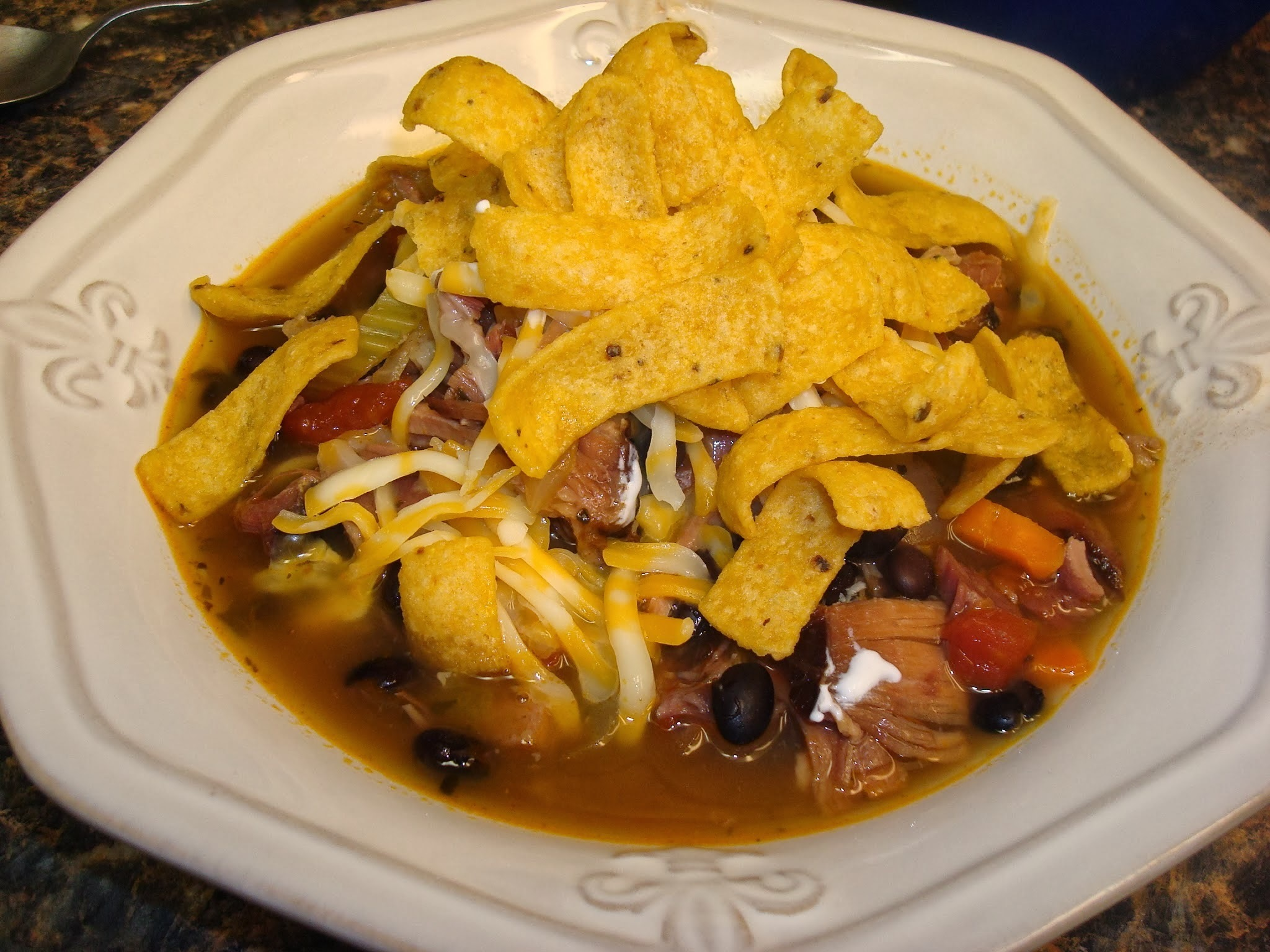 Southwestern Black Bean and Ham Soup
