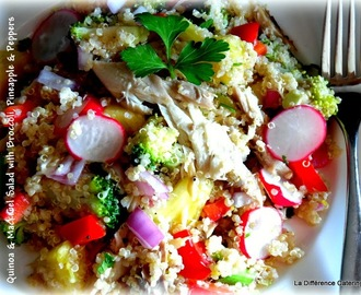 Quinoa & Mackerel Salad with Broccoli, Pineapple & Red Peppers