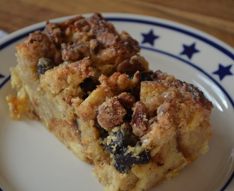 Bread Pudding aux raisins et noix de pécan / Bread Pudding with raisins and pecan