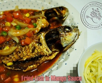 Fried Fish in Mango Sauce (Ikan Belanak dgn Sos Mangga)