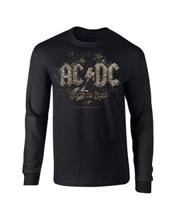AC/DC Rock or bust mensLongsleeve t-shirt Svart Extra-Large, XL