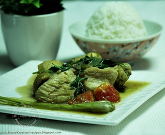 Basil Chicken in Green Chili Paste