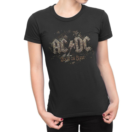 AC/DC Rock or bust girlie t-shirt Svart Extra-Large, XL