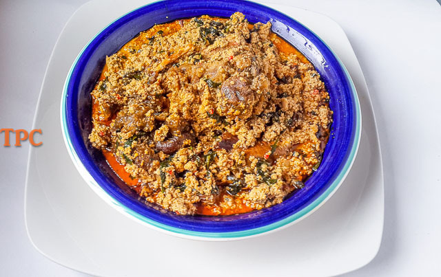 mouthwateringly rich egusi soup (melon seed soup)