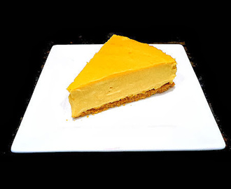 A Kitchen Keeper Original - Pumpkin Cheesecake with  Orange Caramel Sauce