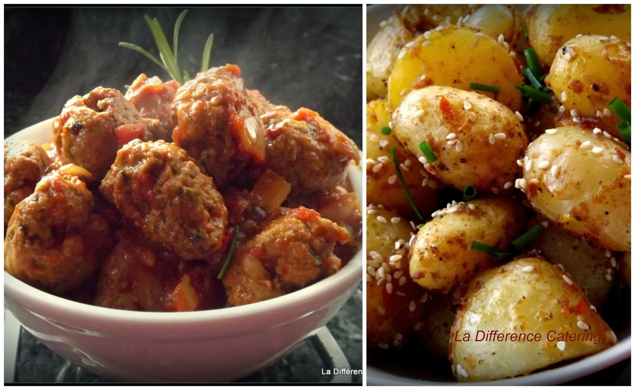 Moroccan Lamb Meatballs & Harissa Potatoes
