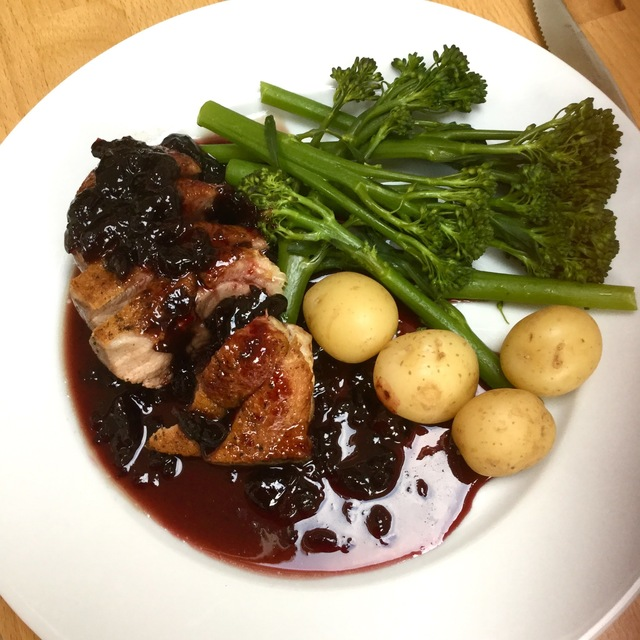 Duck Breast with Morello cherry sauce