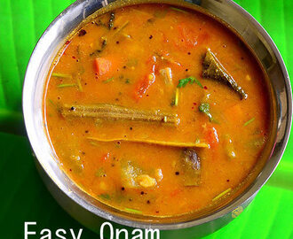 Kerala Sambar Recipe Without Coconut – Easy Onam Sadya Sambar