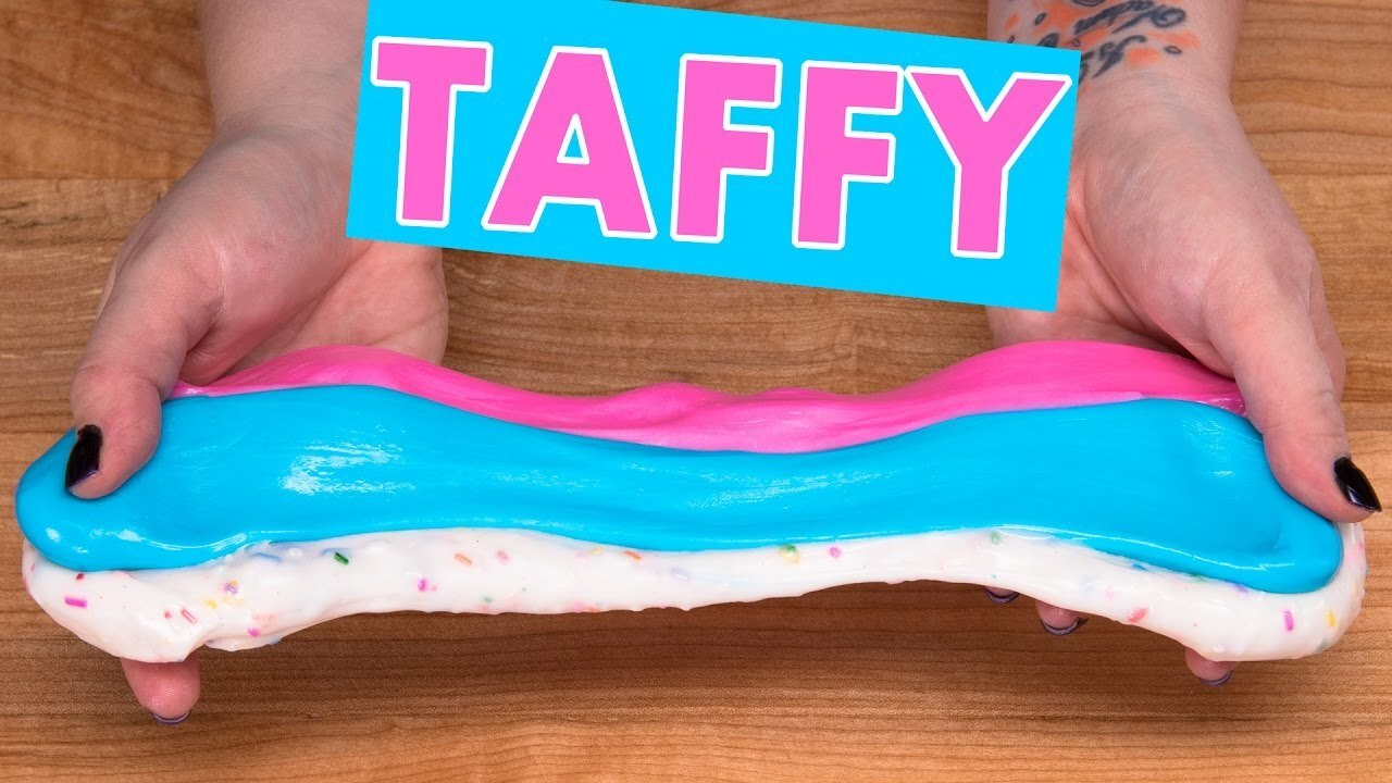 Homemade Taffy Candy Recipe / Salt Water Taffy (Cotton Candy, Bubble Gum & Funfetti)