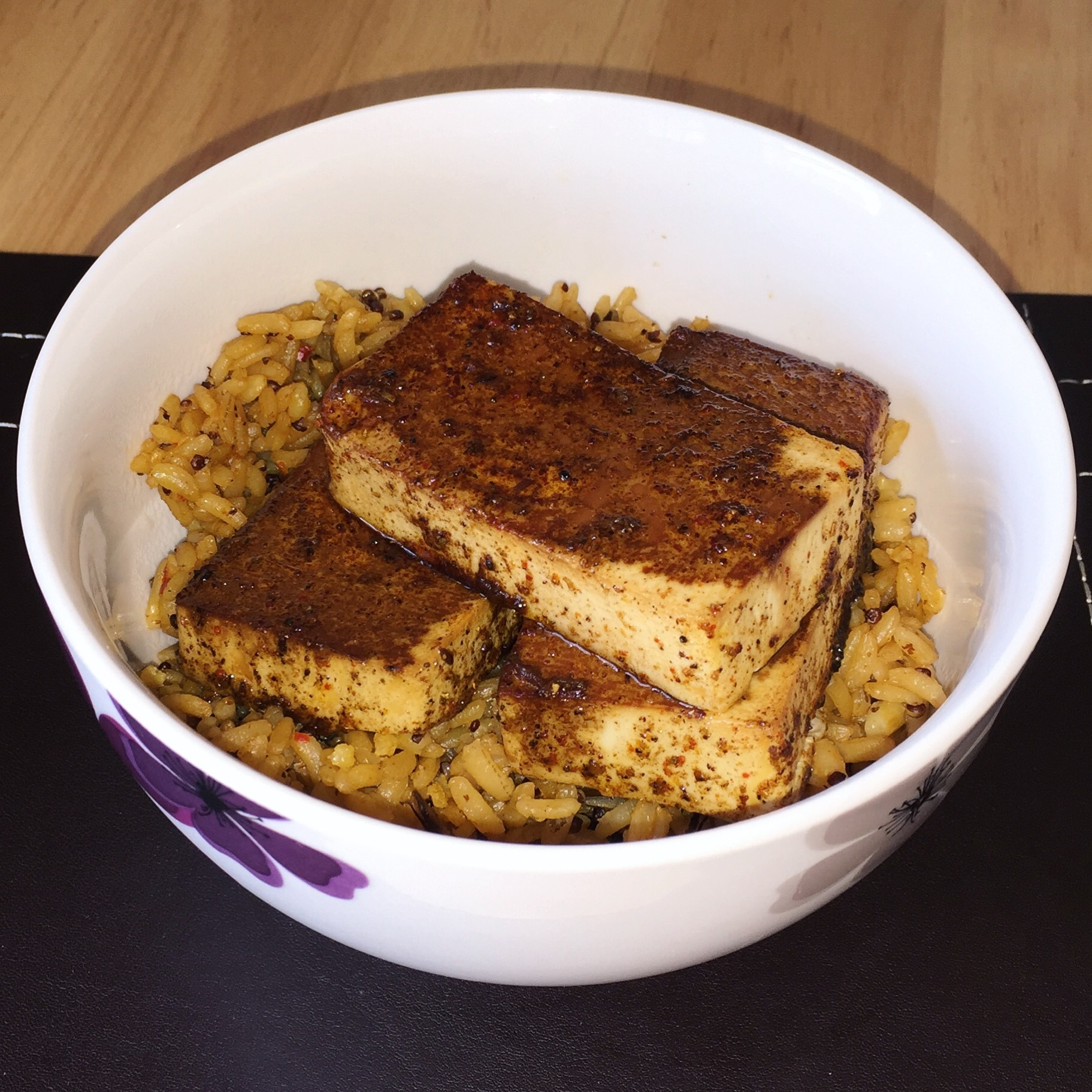 Baked Tofu with Spicy Baharat Marinade
