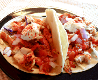 Grilled Spicy Cod Tacos with Tomato Salsa