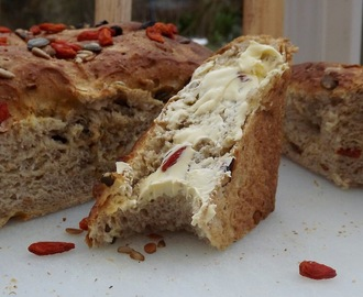 Goji Berry, Mixed Seed, Honey, Wholemeal Bread